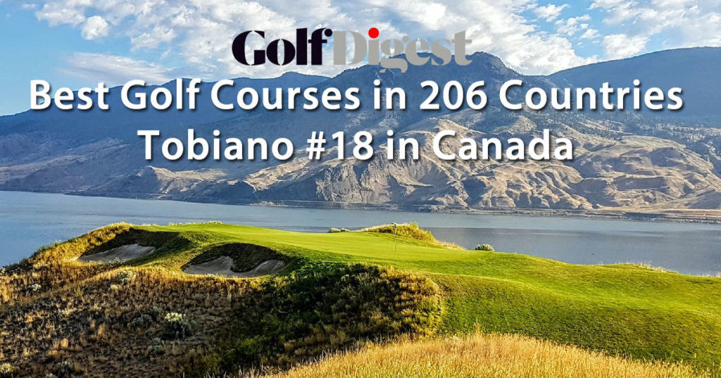 Top Golf Course in World Tobiano Ranks #18