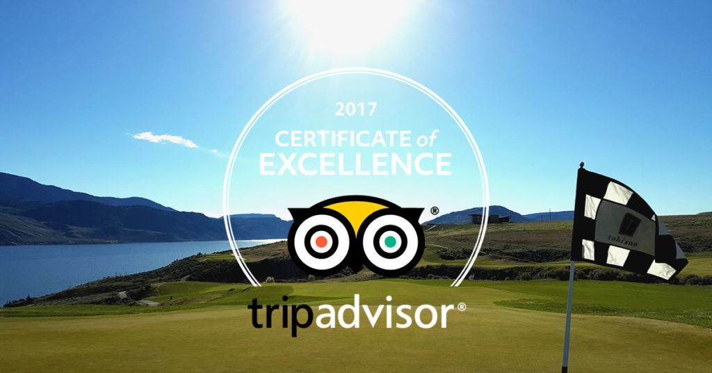 Tobiano TripAdvisor Top Golf Course 2017