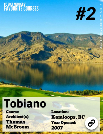 Top BC Golf Courses - Tobiano ranked #2
