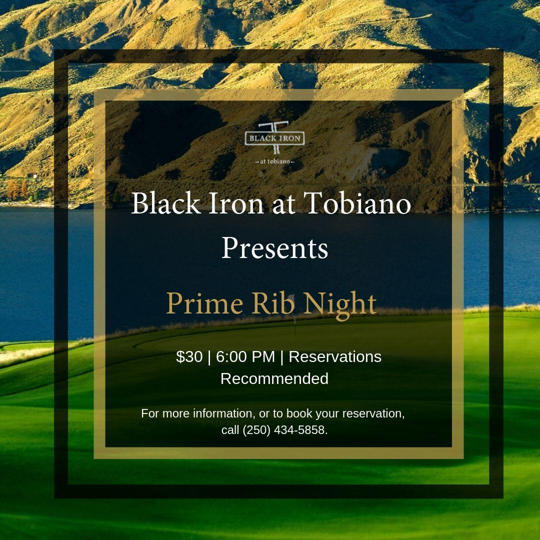 Black Iron Prime Rib Night