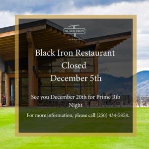 Black Iron Restaurant Closed